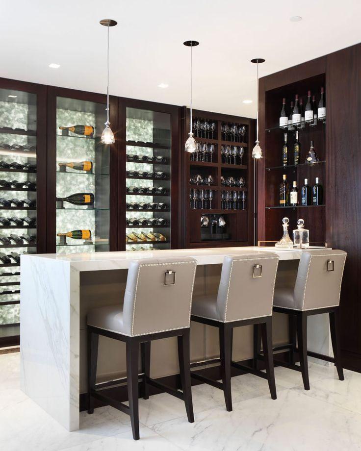 Gorgeous Modern Home Bar Space Chairs Modern Home Bar Home