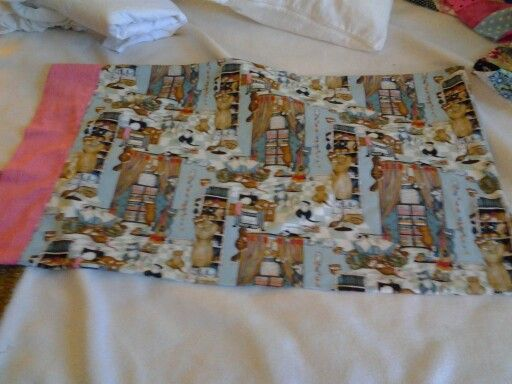 Custom made pillowcase. 3 yards of fabric and $15.00 is all it takes for 2 custom made pillowcases.