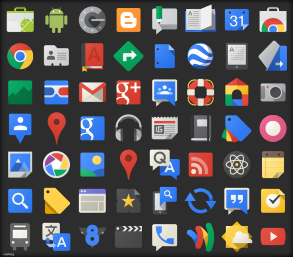 The Google Icons : Free Vector Site | Flat Design | Google