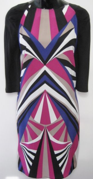 Alice trixie geometric print dress multi black white magenta purple