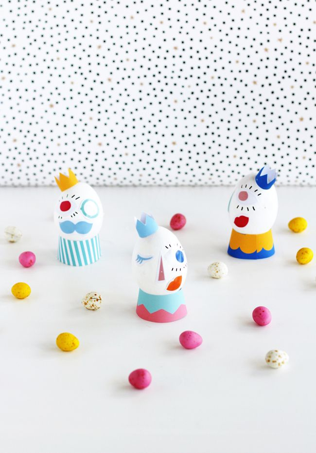 Silly Face Easter Eggs on A Subtle Revelry | DESIGN IS YAY!