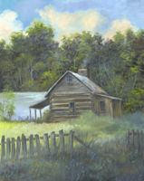 lakeside cabin paintings | Lakeside Cabin