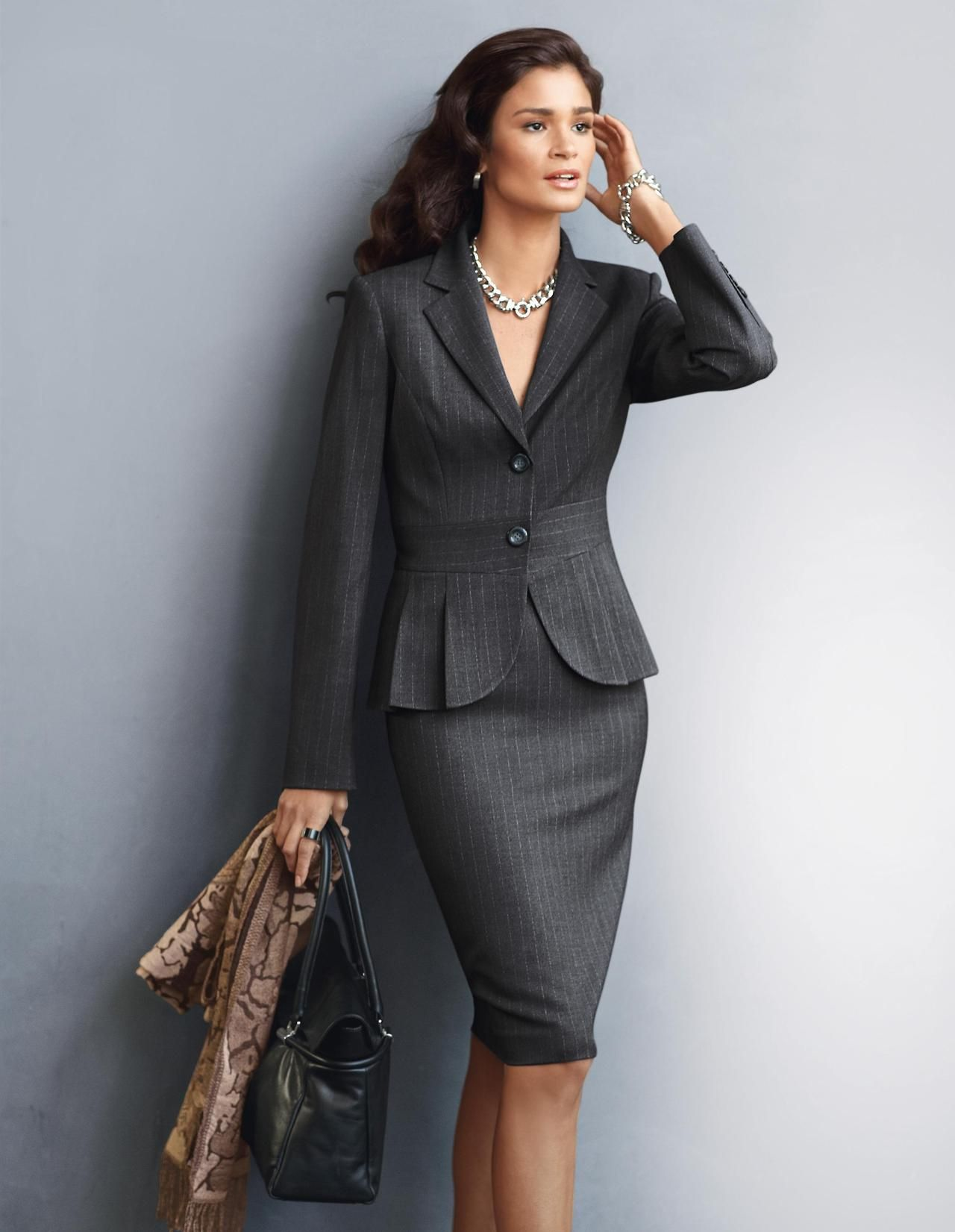 Classic pin striped suit. | Work fashion, Fashion, Business