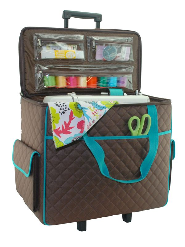 4040 Machine Carrying Cases Everything Mary Rolling Sewing Delectable Case For Sewing Machine