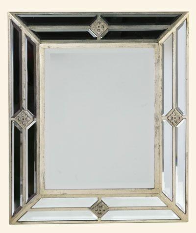 67e6aa69a5de Venetian Glass Silver Gilded Wall Mirror (60.5 x 5.7 x 71.5cm) in ...