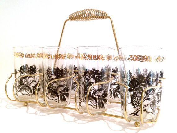 Nature Motif Mid Century Retro Federal Glass by RetrouverBiz, $40.00