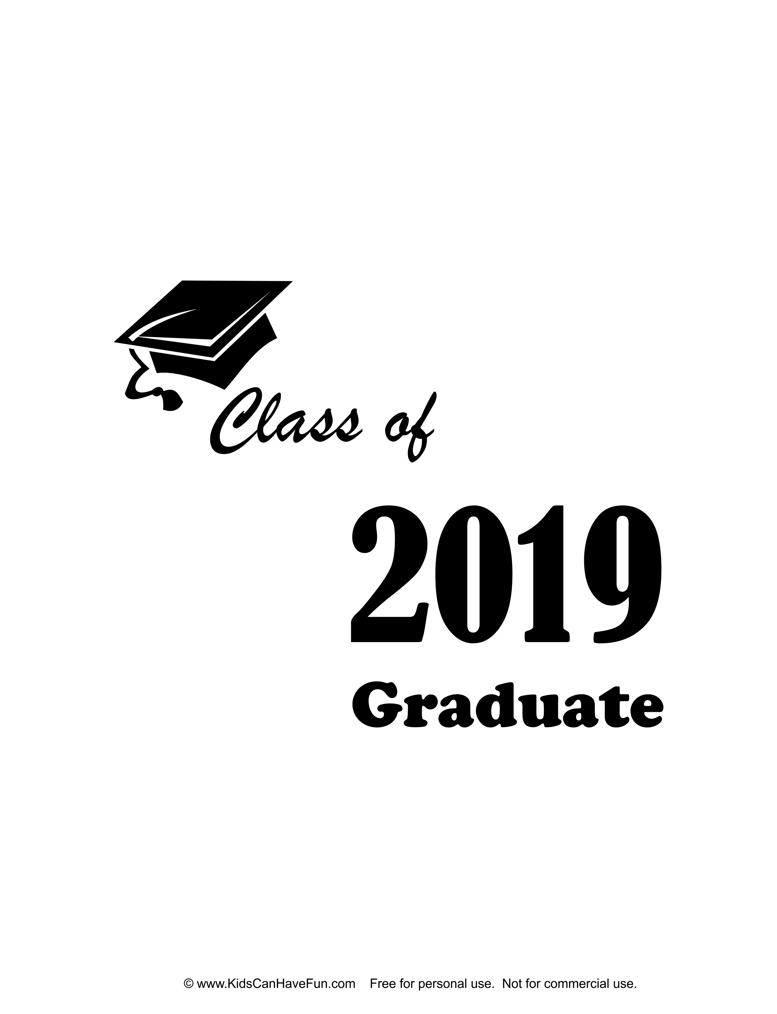 2019 Graduate T-Shirt Iron-on http://www.kidscanhavefun