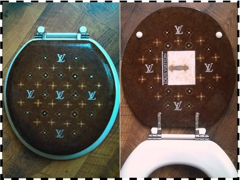 Louis Vuitton Toilet Seat Covers