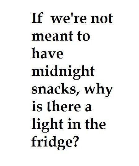 However... my apartment fridge has no light... What's it trying to tell me?!?!