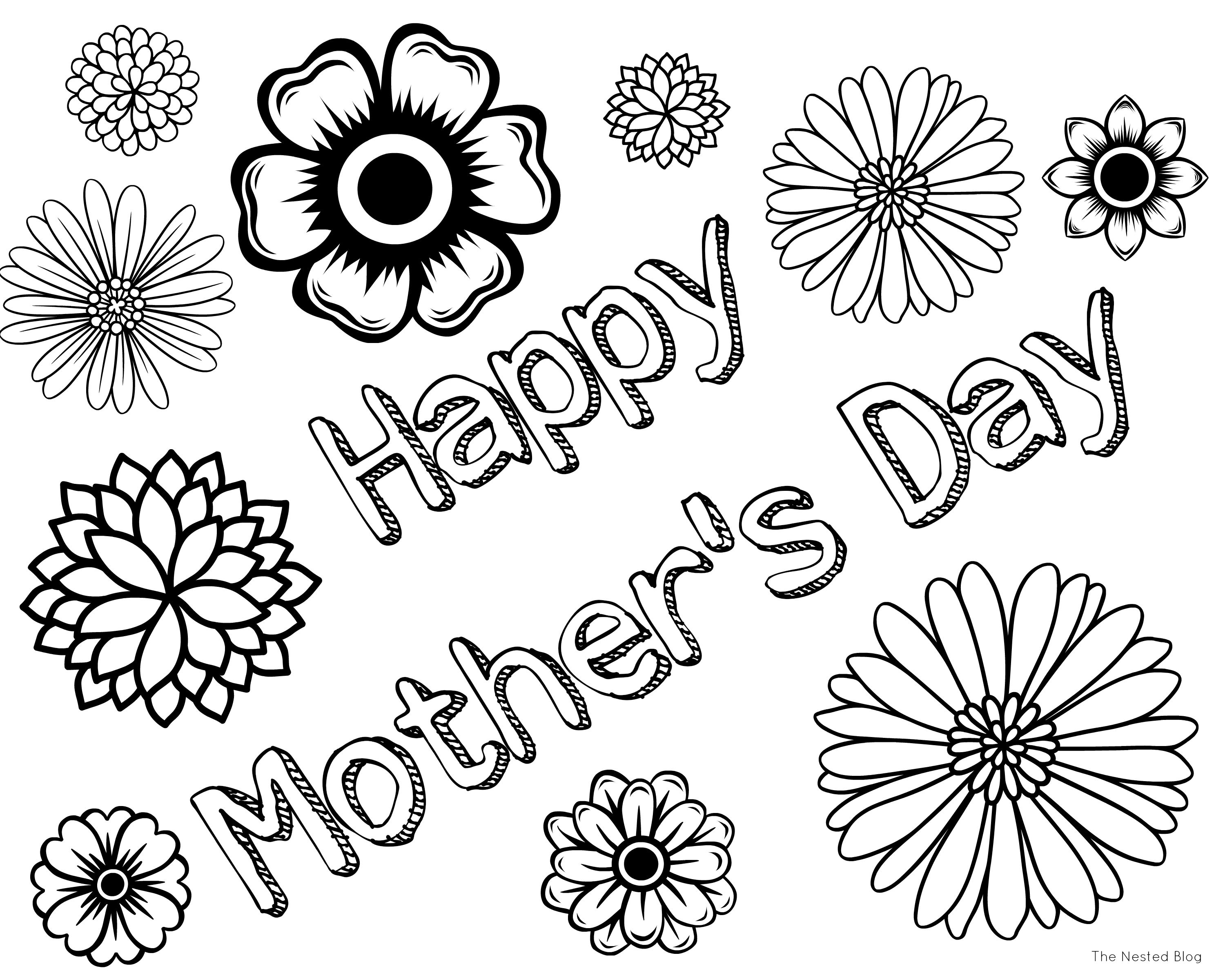 Mothers Day Colorings Page Isabella Pinterest Free coloring