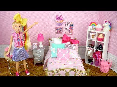 Barbie Bedroom Jojo Siwa Doll Evening Routine Dance Class Study