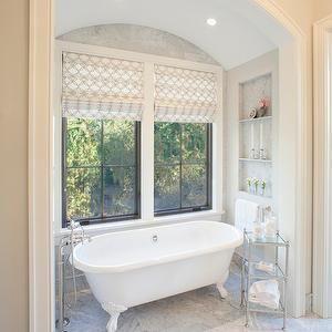 Francesca Owings Interior Design - bathrooms - arched alcove, arched bathroom alcove, arched bathtub alcove, arched bathtub alcove, barrel c...