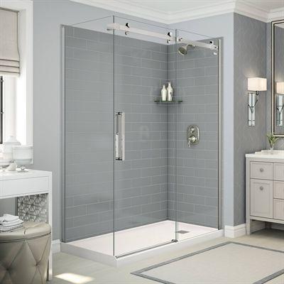 maax shower stalls & enclosure utile corner shower in