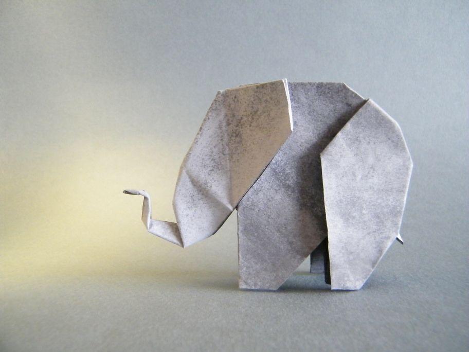 Elephant Edwin Corrie Origami Elephant Origami And Diagram