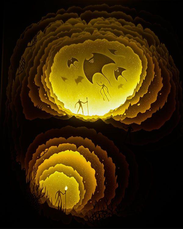 by Harikarishnan Panicker & Deepti Nair. [Illuminated Cut Paper ...