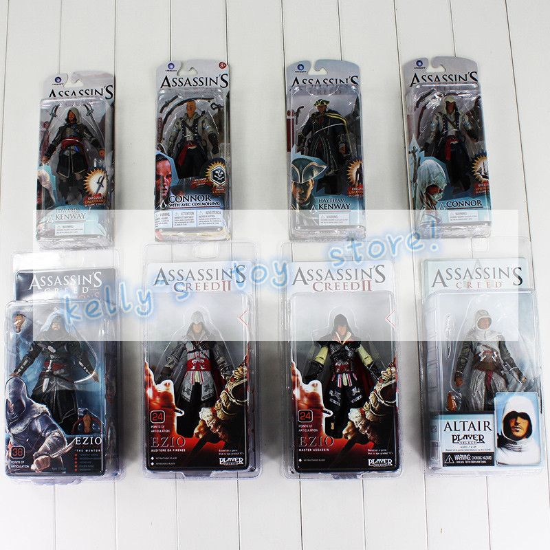 Assassins Creed Toy Action Figures Wallet Pin Set Rings Role Play Edward Kenway