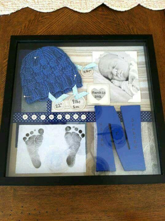Idea para organizar el primer cuadro de tu bebé   Decoraciones ...