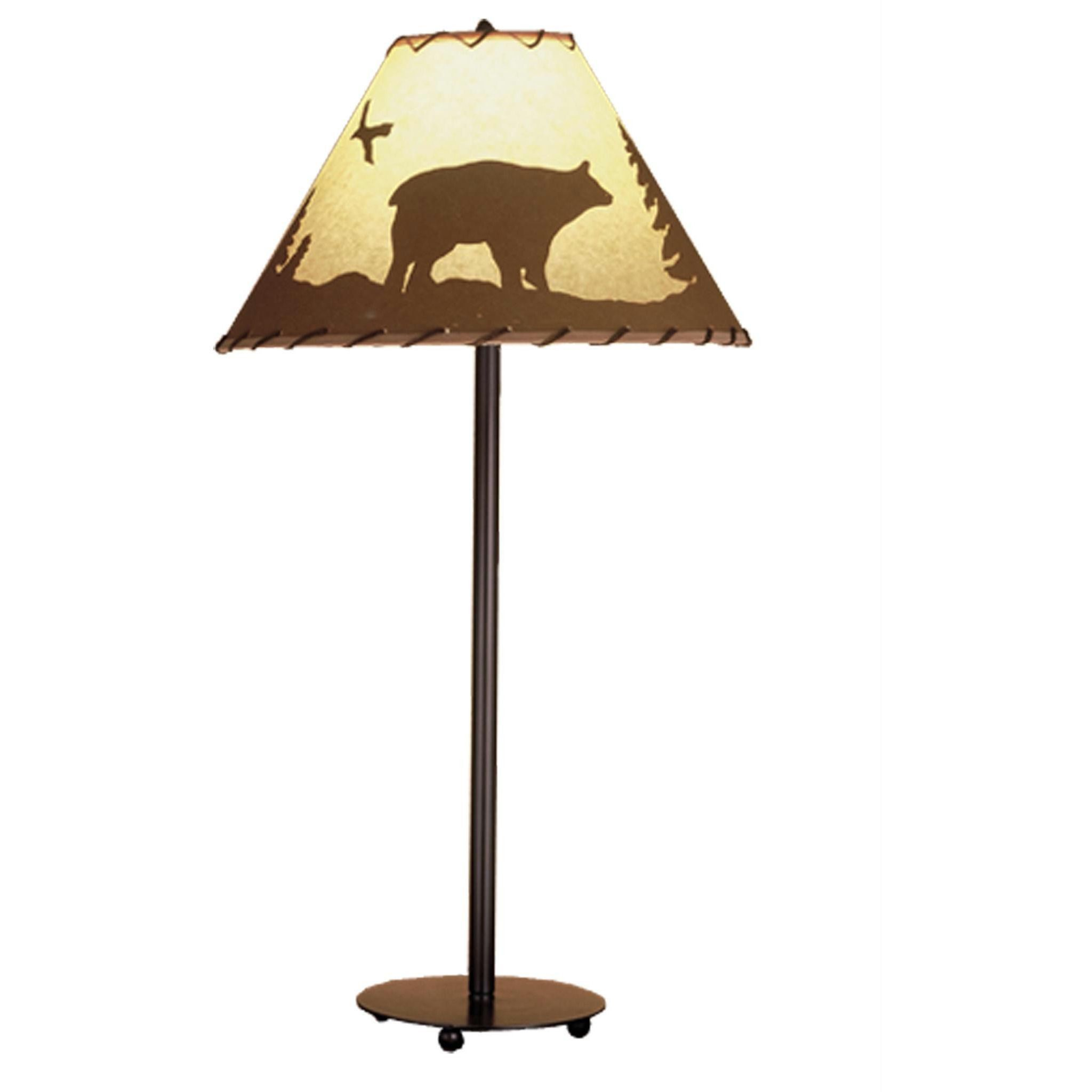 29 inch h bear in the woods painted table lamp products 29 inch h bear in the woods painted table lamp geotapseo Choice Image