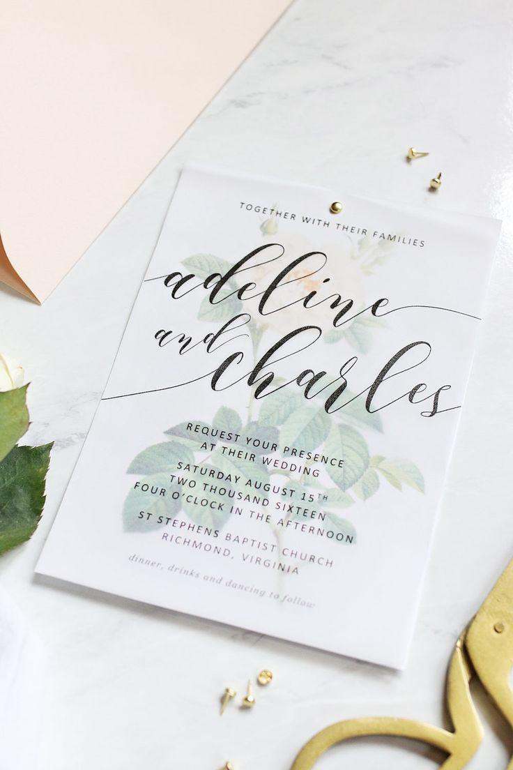 White rose printable wedding invitations   Invitations + Paper Goods ...