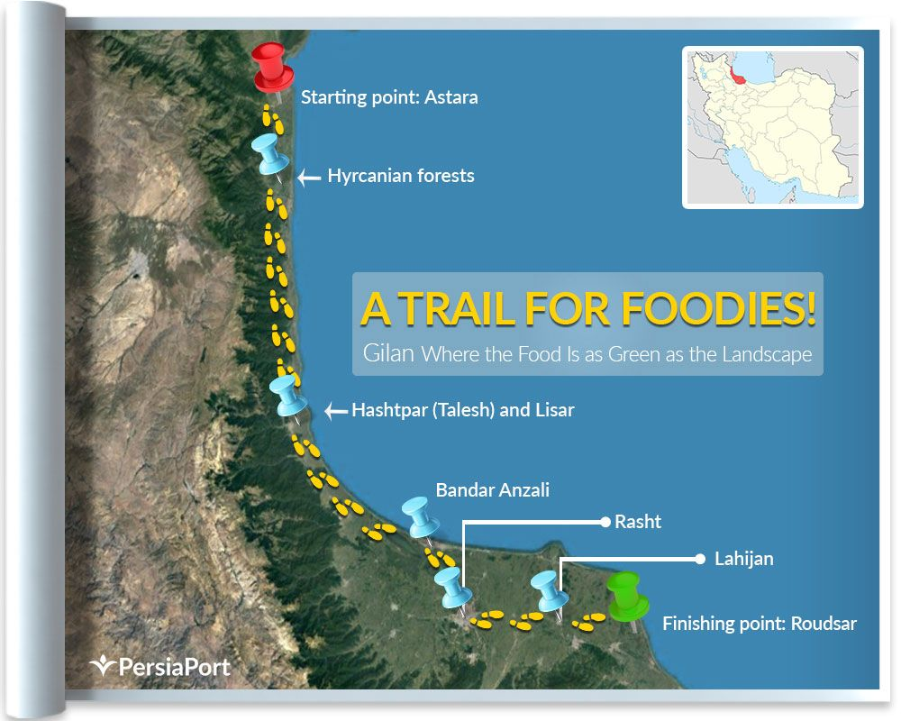 A Trail For Foodies Gilan Where The Food Is As Green As The Landscapeد Persiaport Foodie Culinary Tourism Green