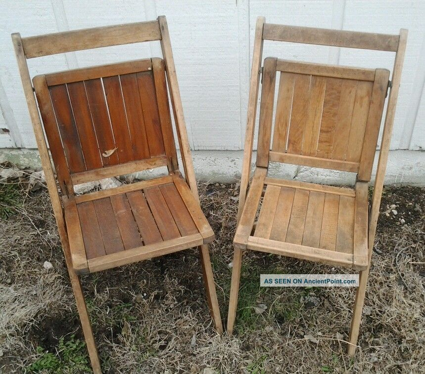 folding wooden chairs slipcover wingback chair diy vintage better