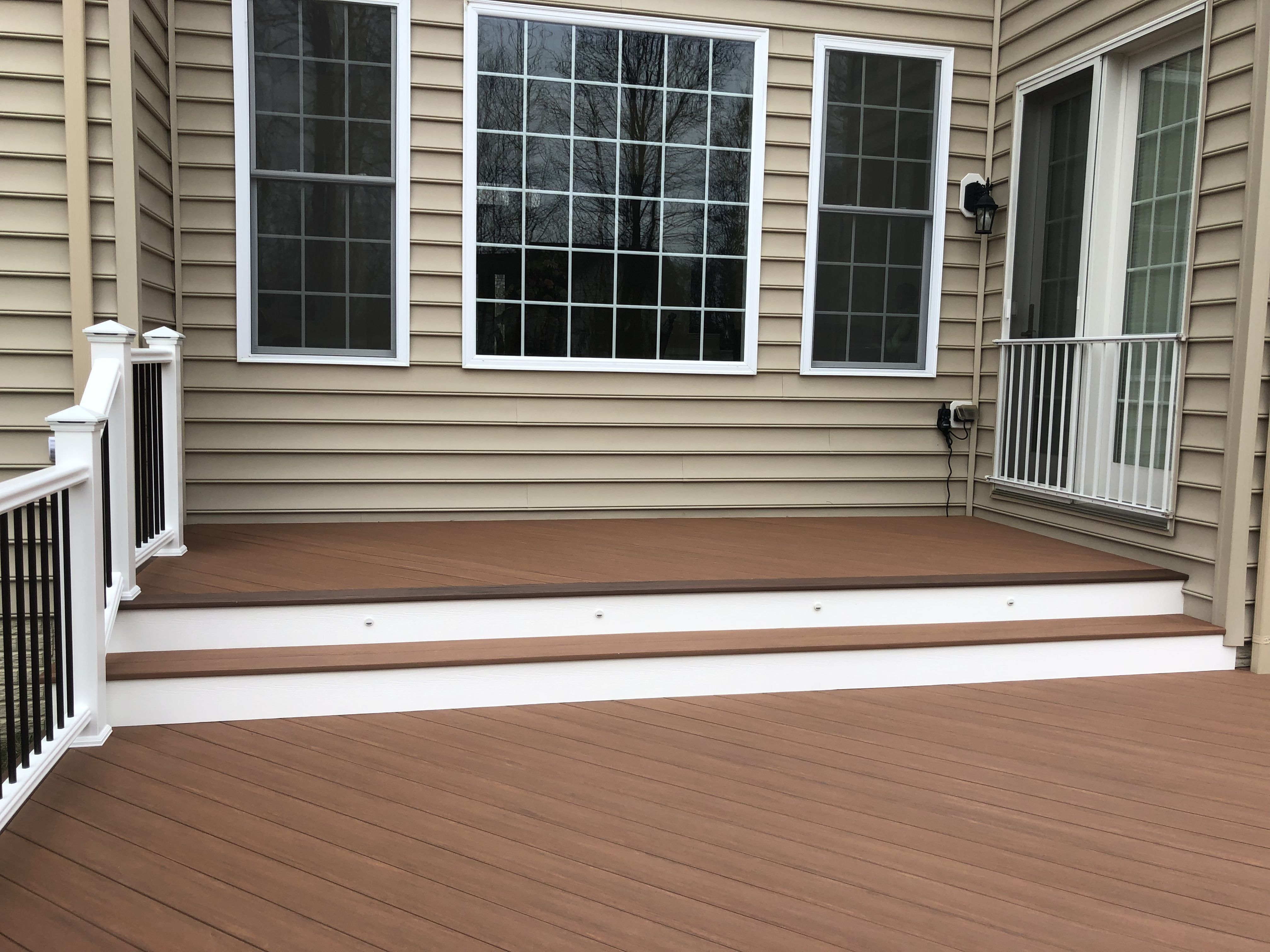 Timbertech Azek Deck Boards Installed In A Diagonal Pattern Azek Decking Deck Deck Boards
