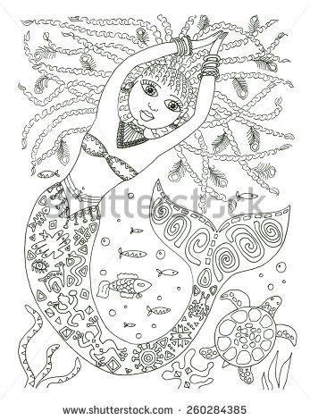 African American Mermaid Coloring Page Mermaid Coloring Pages Mermaid Coloring African American Mermaid
