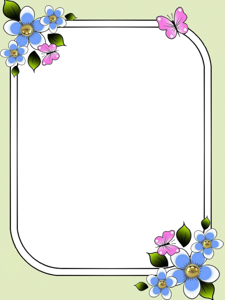 Png Frame Page Borders Design Colorful Borders Design Floral Border Design