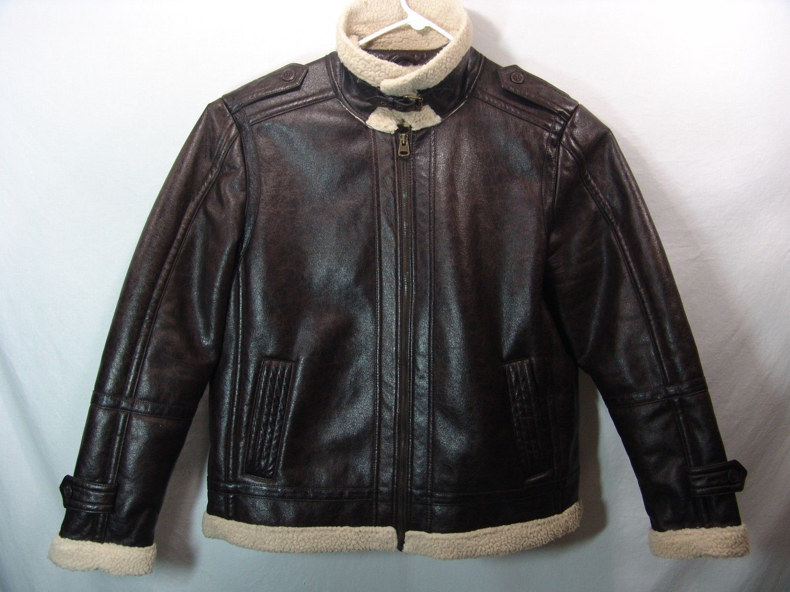 Nice! levis faux leather sherpa bomber / motorcycle jacket