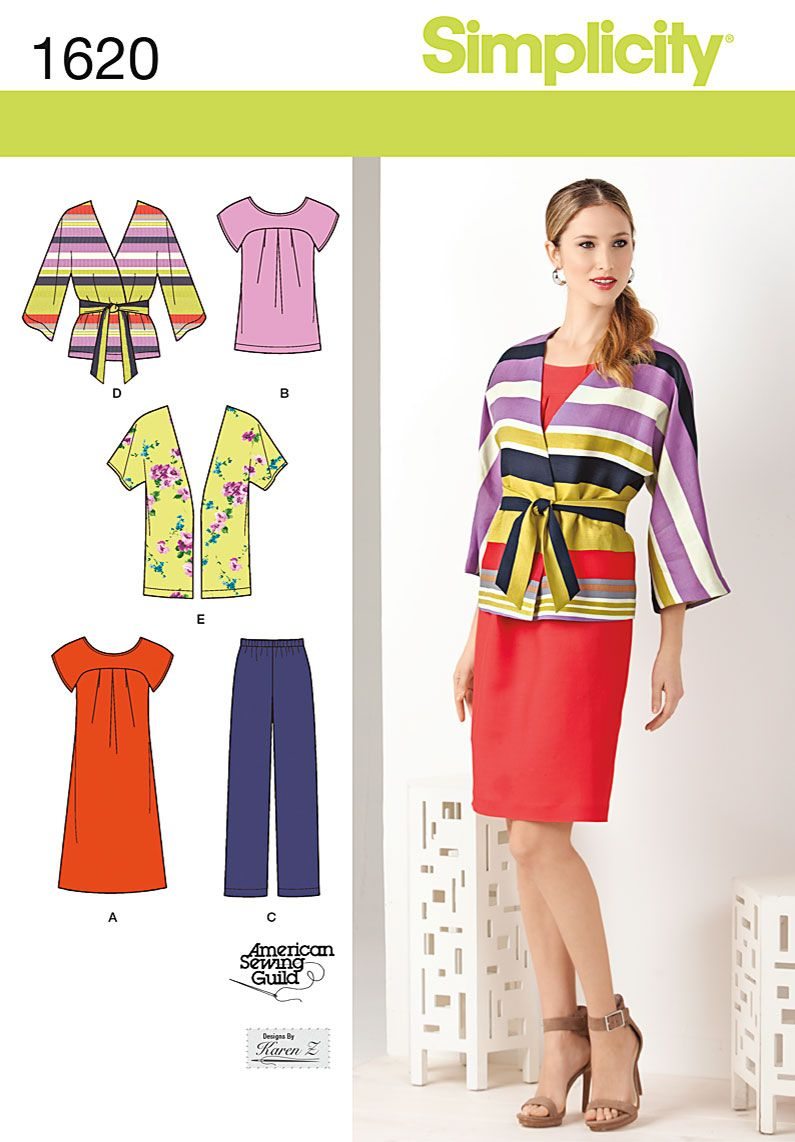 Simplicity 1620, great top, yoked dress(the drape to a-line looks ...