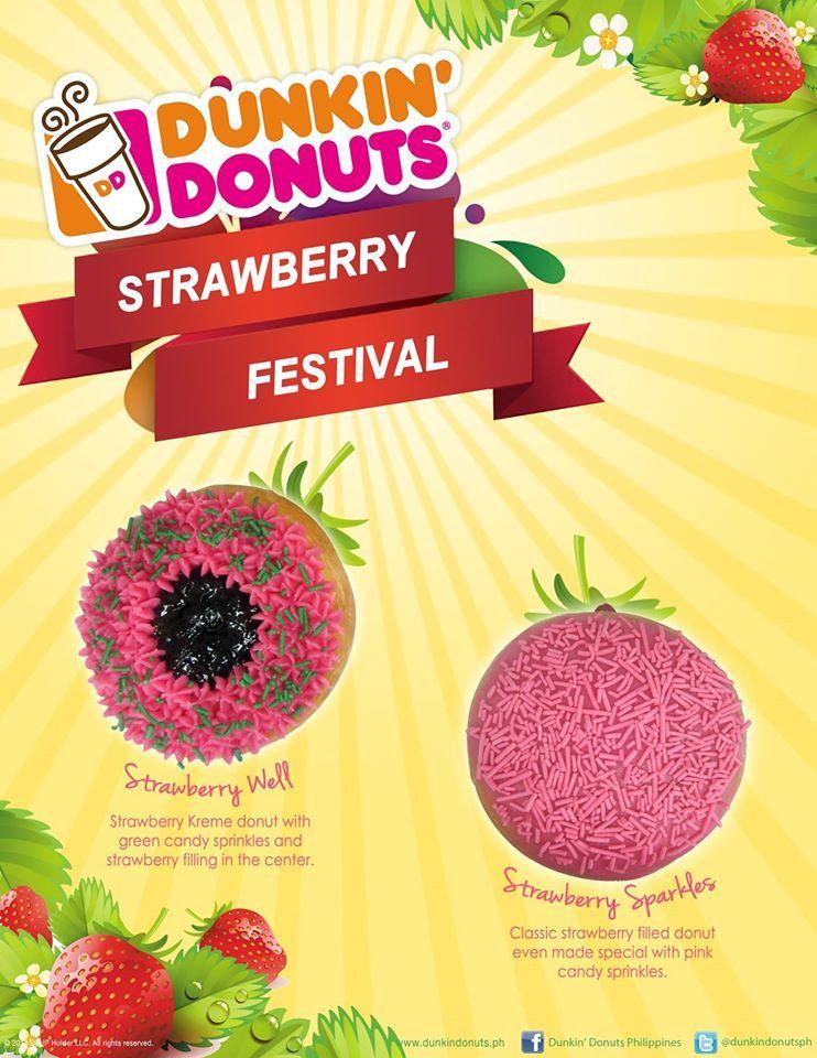 Dunkins por el mundo Filipinas Strawberry festival