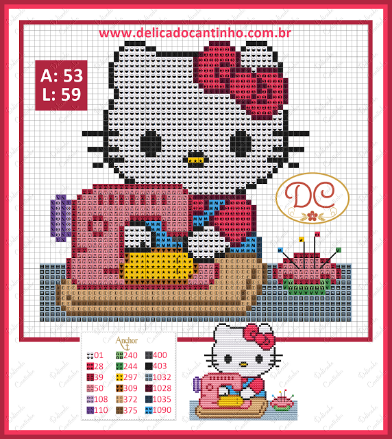 Hello Kitty Costureira ~ Delicado Cantinho … | Pinteres…
