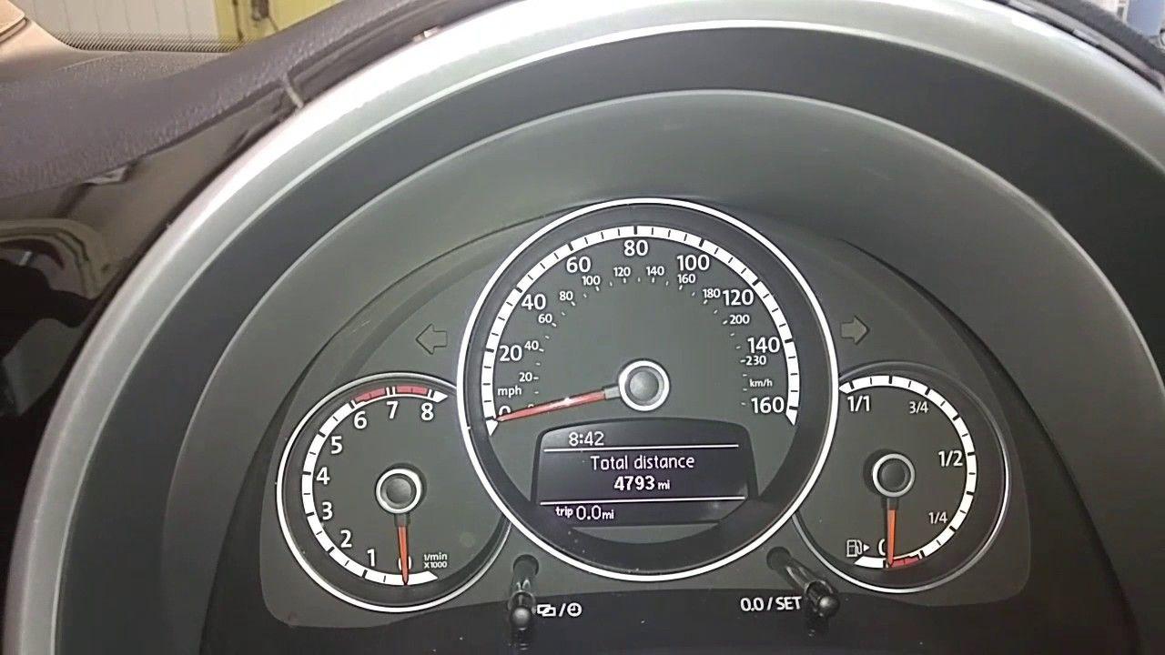 Volkswagen Beetle - inspection and oil light reset | Reset