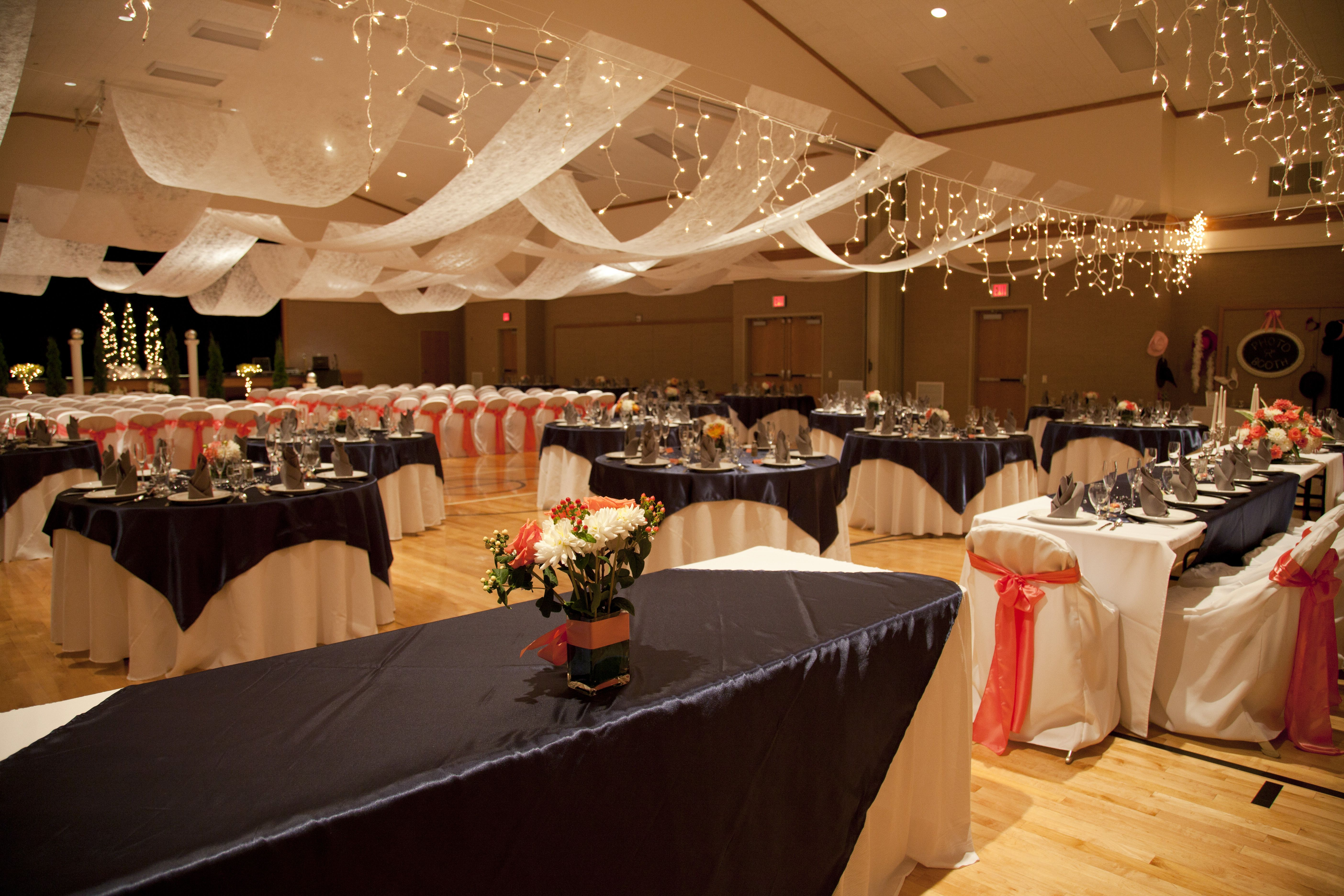 Proof that decorating a gym for a wedding can turn out looking nice proof that decorating a gym for a wedding can turn out looking nice junglespirit Choice Image