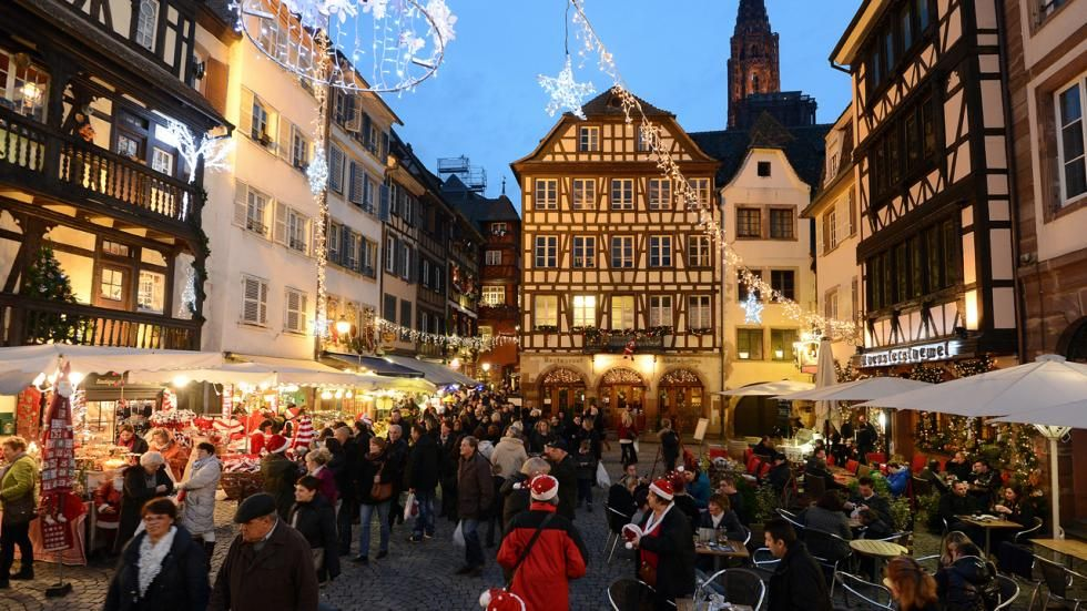 Strasbourg, located on the border with Germany.Has the