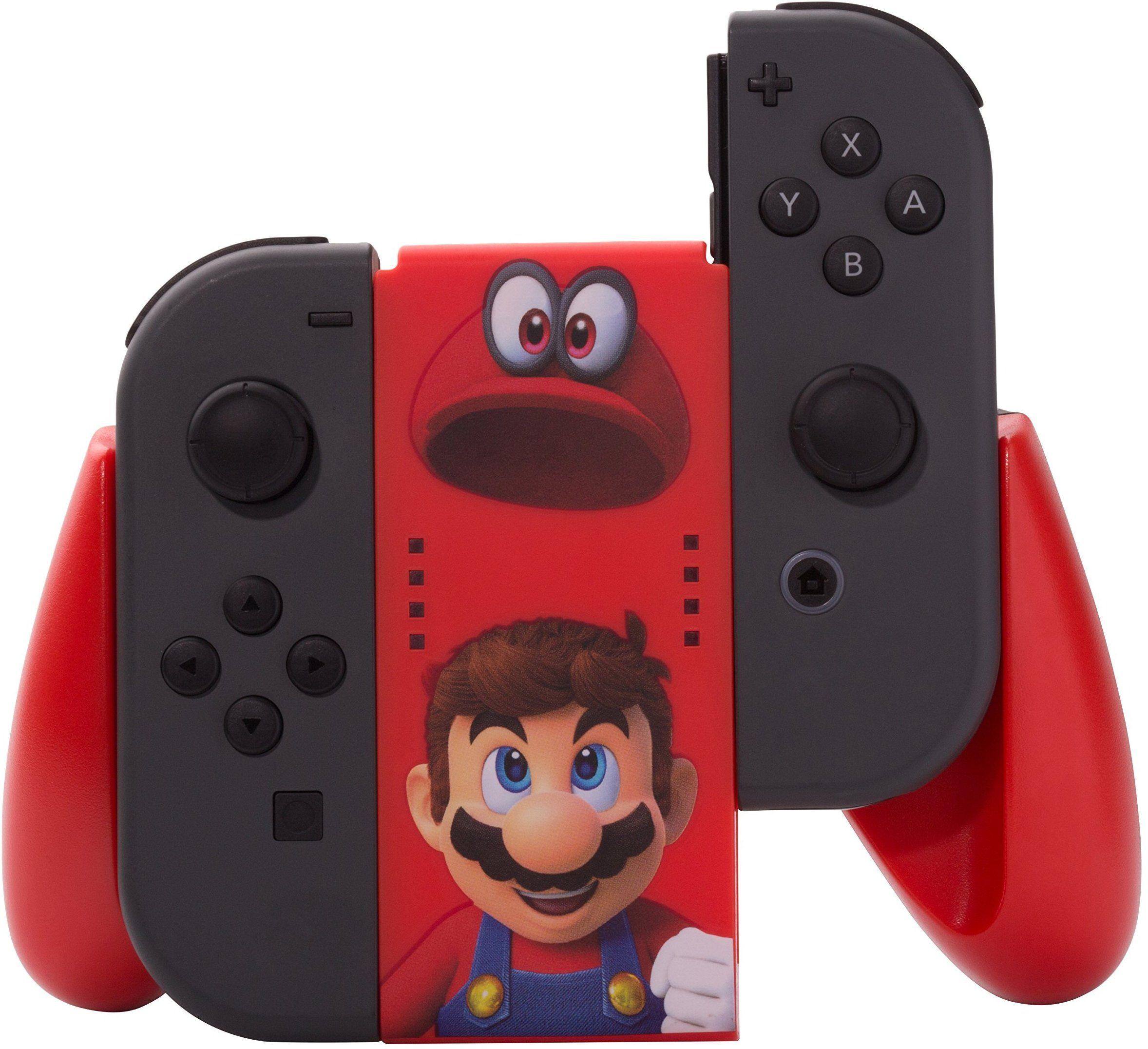 Amazon Com Powera Joy Con Comfort Grip Super Mario Odyssey Nintendo Switch Video Games Nintendo Switch Super Mario Nintendo Switch Accessories