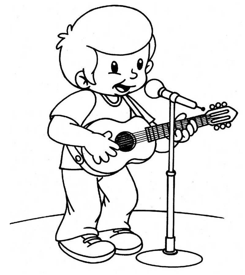 Dibujo De Cantante Dibujos De Profesiones Libro De Colores Dibujos