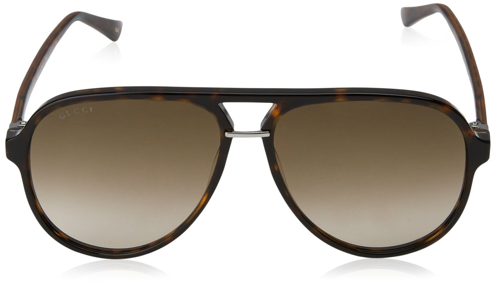 0f893eb424 Gucci Pilot Shape Fashion Sunglasses 58 14 140 Avana   Brown   Avana ...