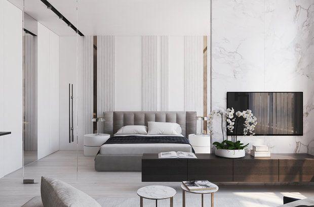 Фотографии - Спальня в стиле Минимализм (с изображениями ...