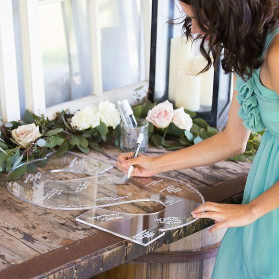 Acrylic Guest Book Letter