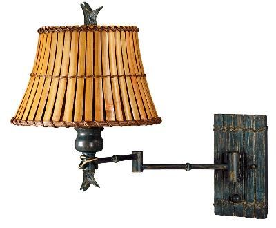 Tropical British Colonial Swing Arm Wall Lamp Swing Arm