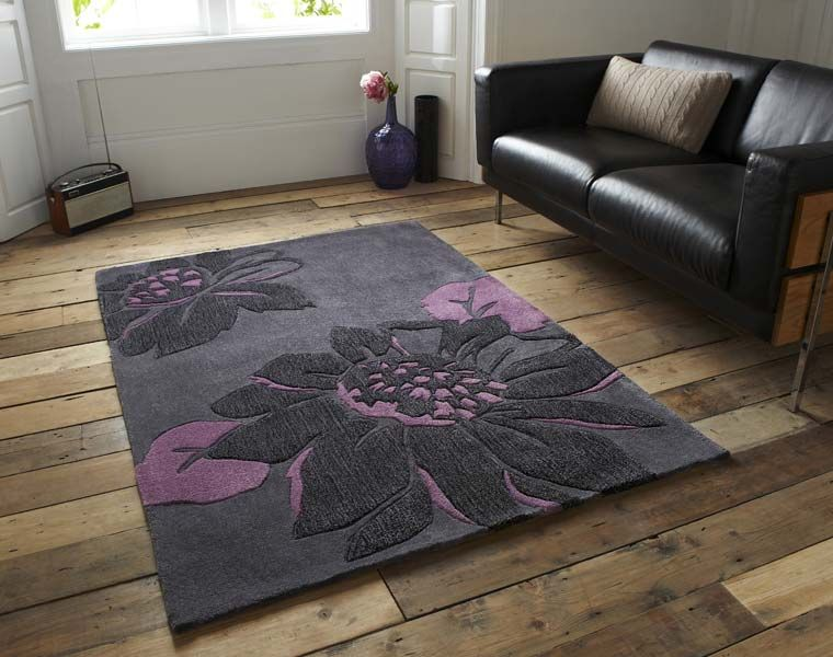 Hj567 Charcoal Purple Le House Rug Grey Rugs Uk