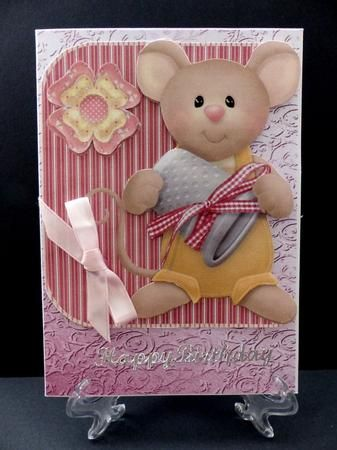 Thimble mouse on Craftsuprint designed by Angela Wake - made by Marion Enefer -