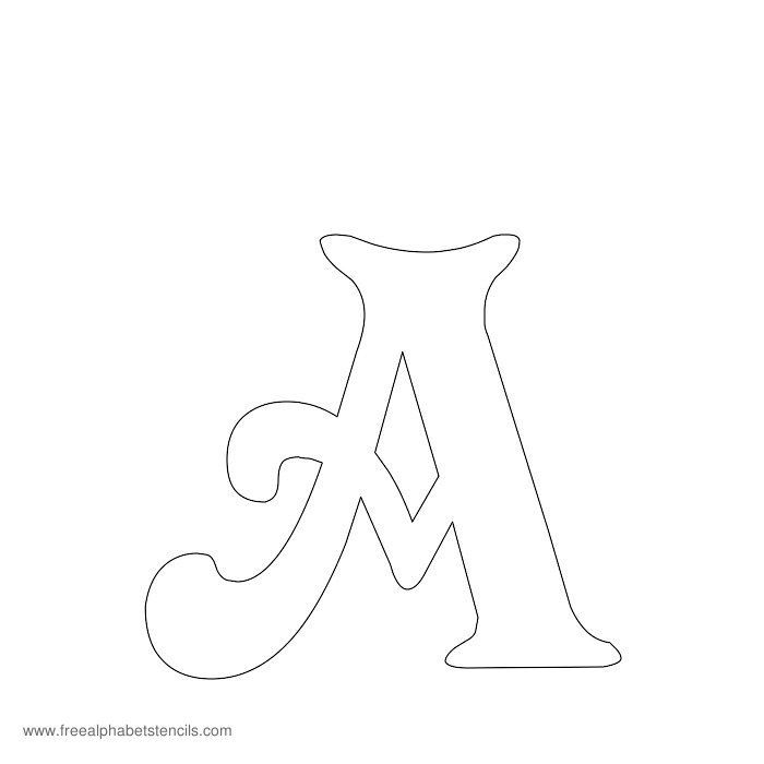 Free printable stencils for alphabet letters numbers for Free printable alphabet templates