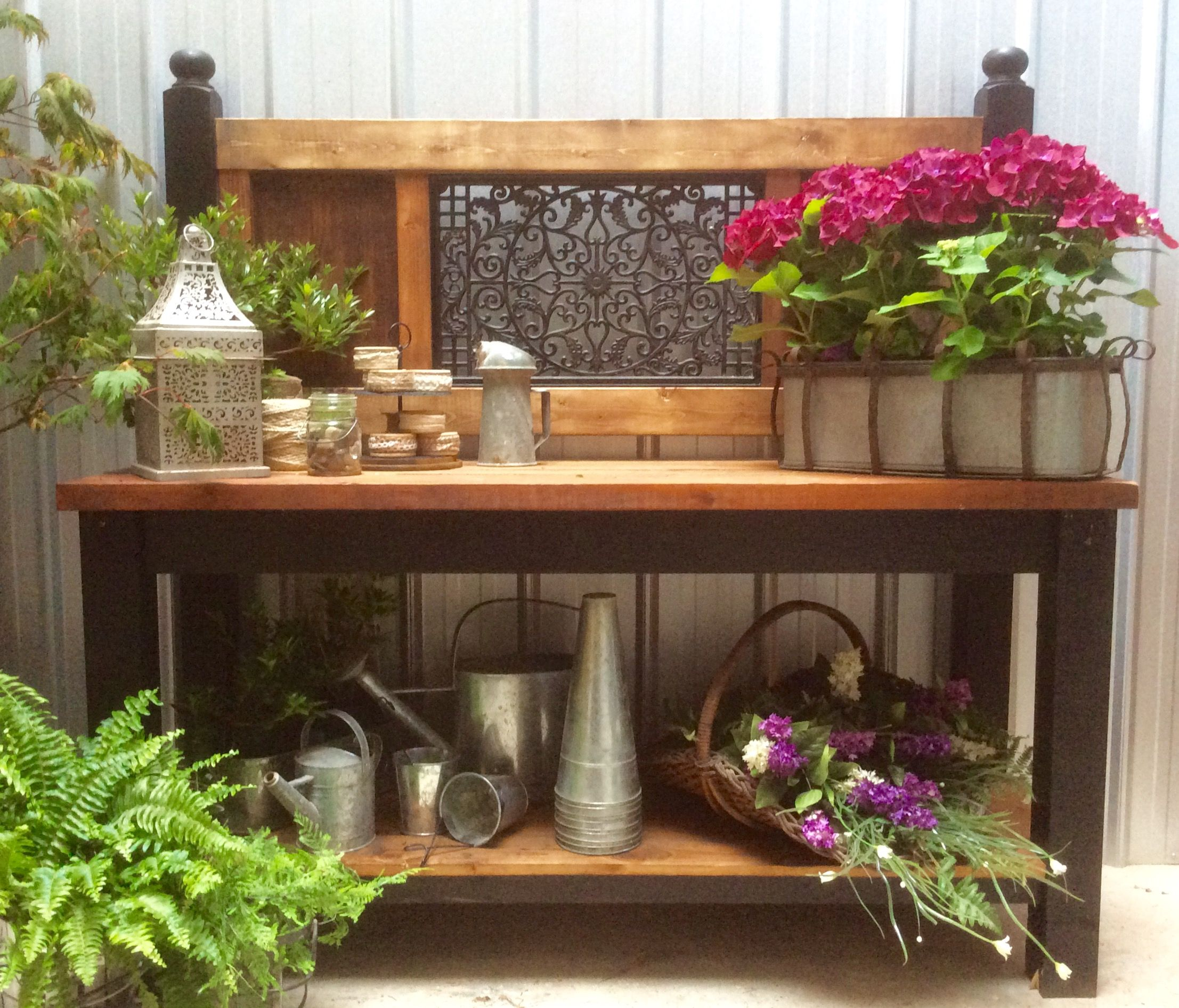 I love building these potting benches. I can teach you to build them too.