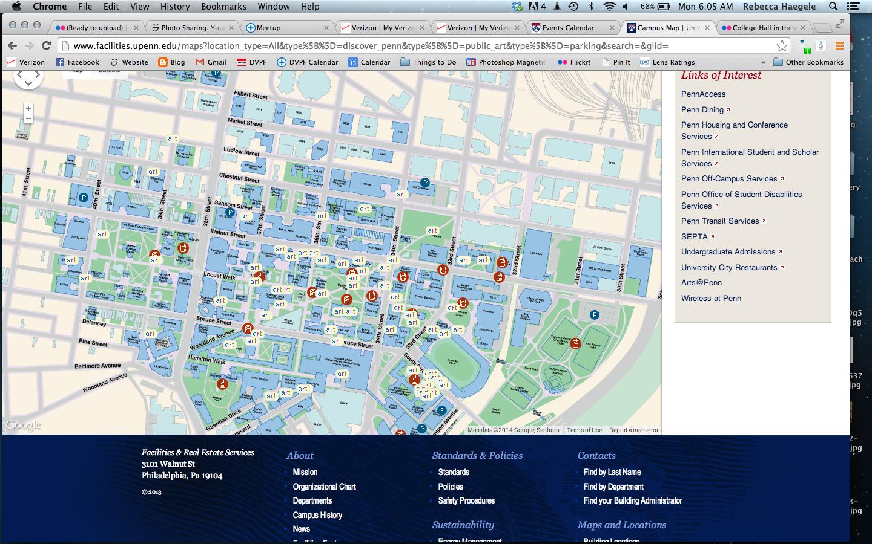 Upenn Campus Map Photo Trips Philadelphia Pinterest Campus