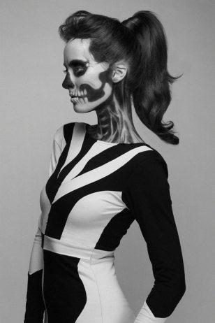 Costume Ideas - Face paint skeleton costume Halloween Pinterest