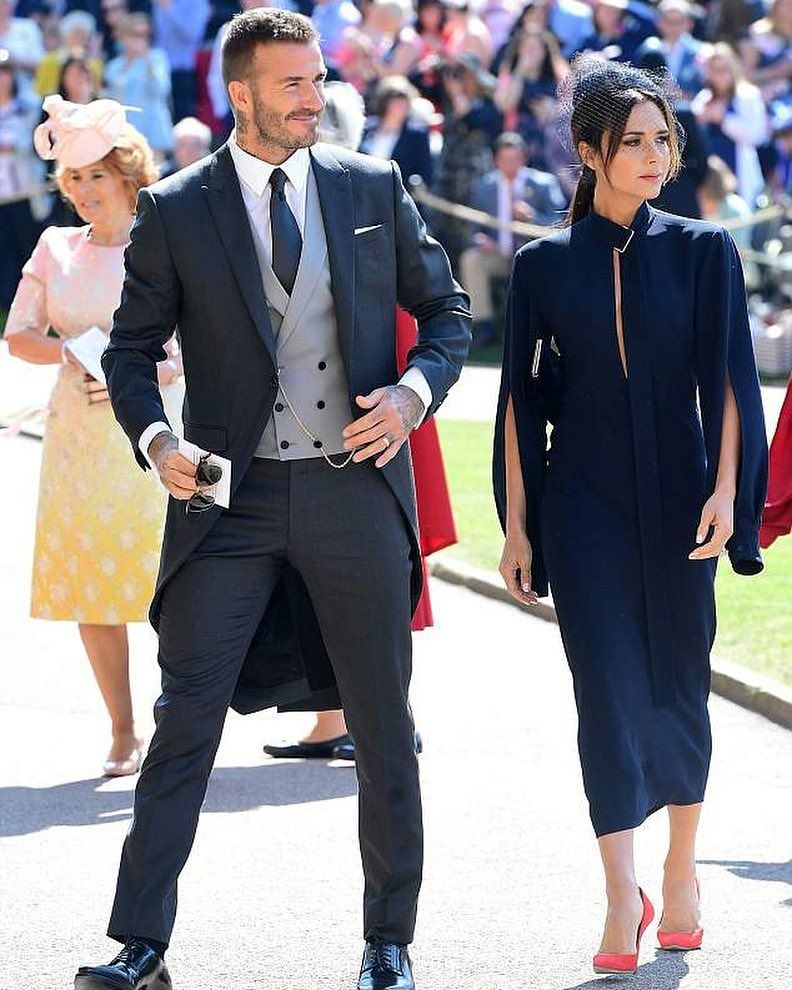 David And Victoria Attending The Royal Wedding Davidbeckham Victoriabeckham Royalwedding