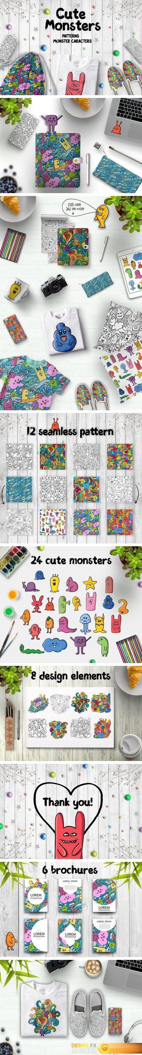 CM - Cute Monsters 1916349 | psd keys | Cute monsters