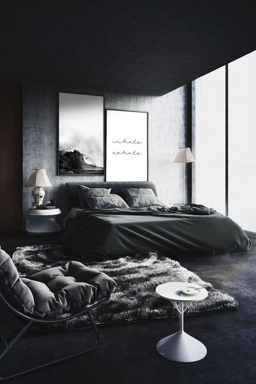 Pin On Bedroom Inspiration Bedroom decor ideas black